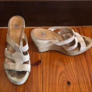 Cute Ugg espadrille wedge sandals!